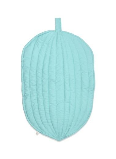Cigit Cigit 80X115 Cm Yaprak Şeklinde Pamuklu Kırlent Mavi